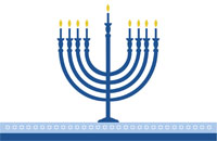 Hanukkah8 Greeting Card (55x85)